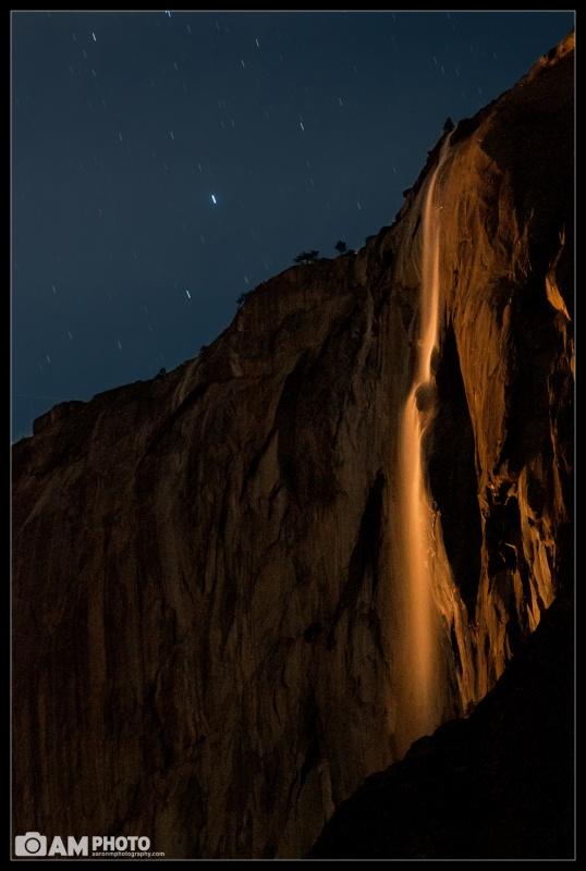 Horsetail Falls Under Moonlight