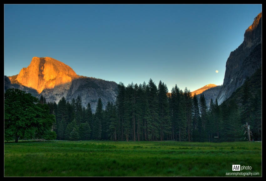 Moon Rising Over Half Dome