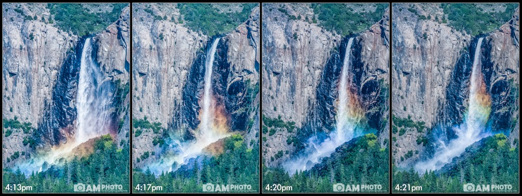 Changing Light, Bridalveil Rainbow