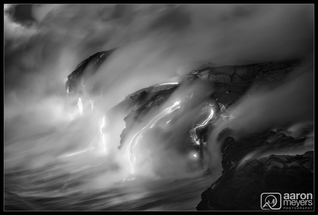 Lava Ocean Entry (Black and White)