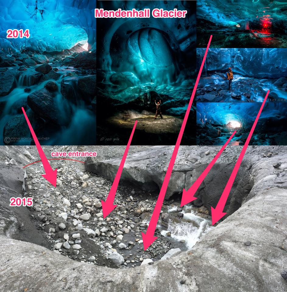 The massive Mendenhall Ice Cave had melted