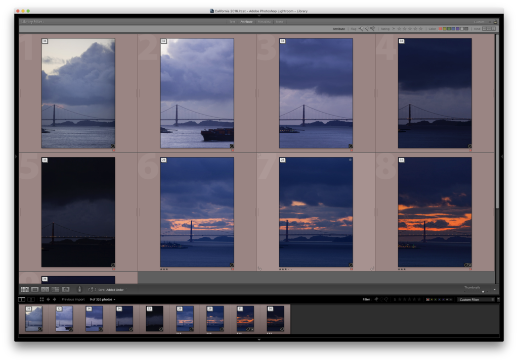 Photos are now stacked in Lightroom