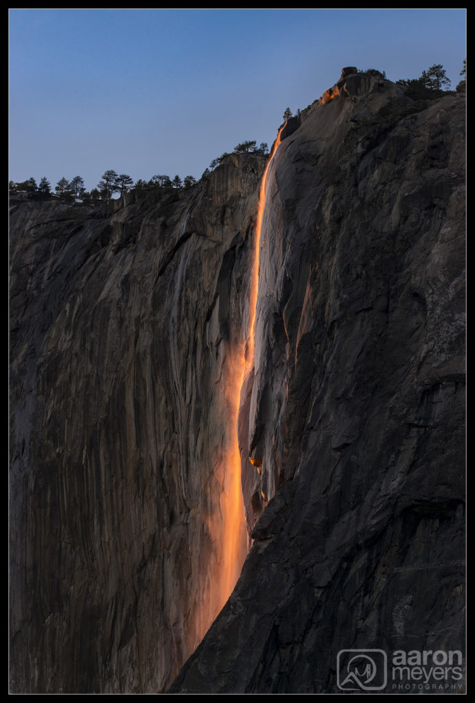 Horsetail Fire Falls from 2016